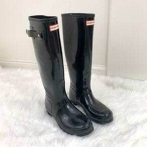 Hunter Original Tall Black Gloss Rain Boots {SK}